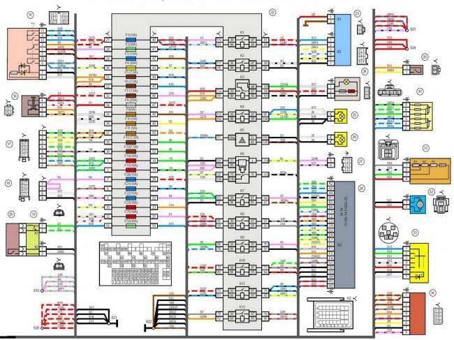 Схема электрическая принципиальная на лада гранта