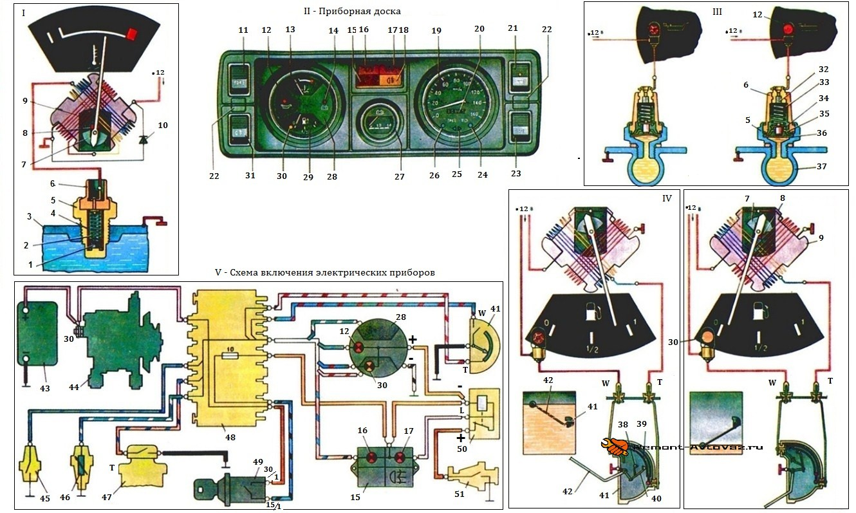 Ваз схема подключения датчика уровня топлива