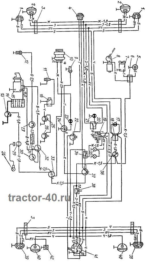 Трактор т 40 схема зажигания
