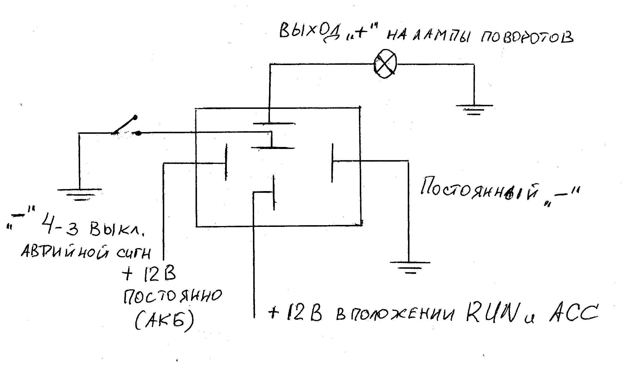 схема контактное поворотов реле 5