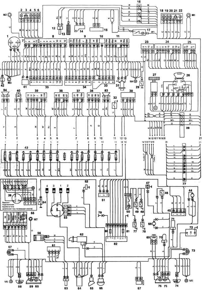 схема электрооборудования таврия 110216