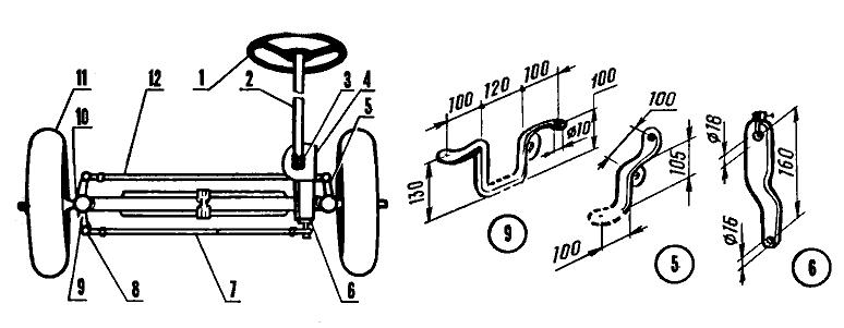 Поворотный механизм минитрактора своими руками