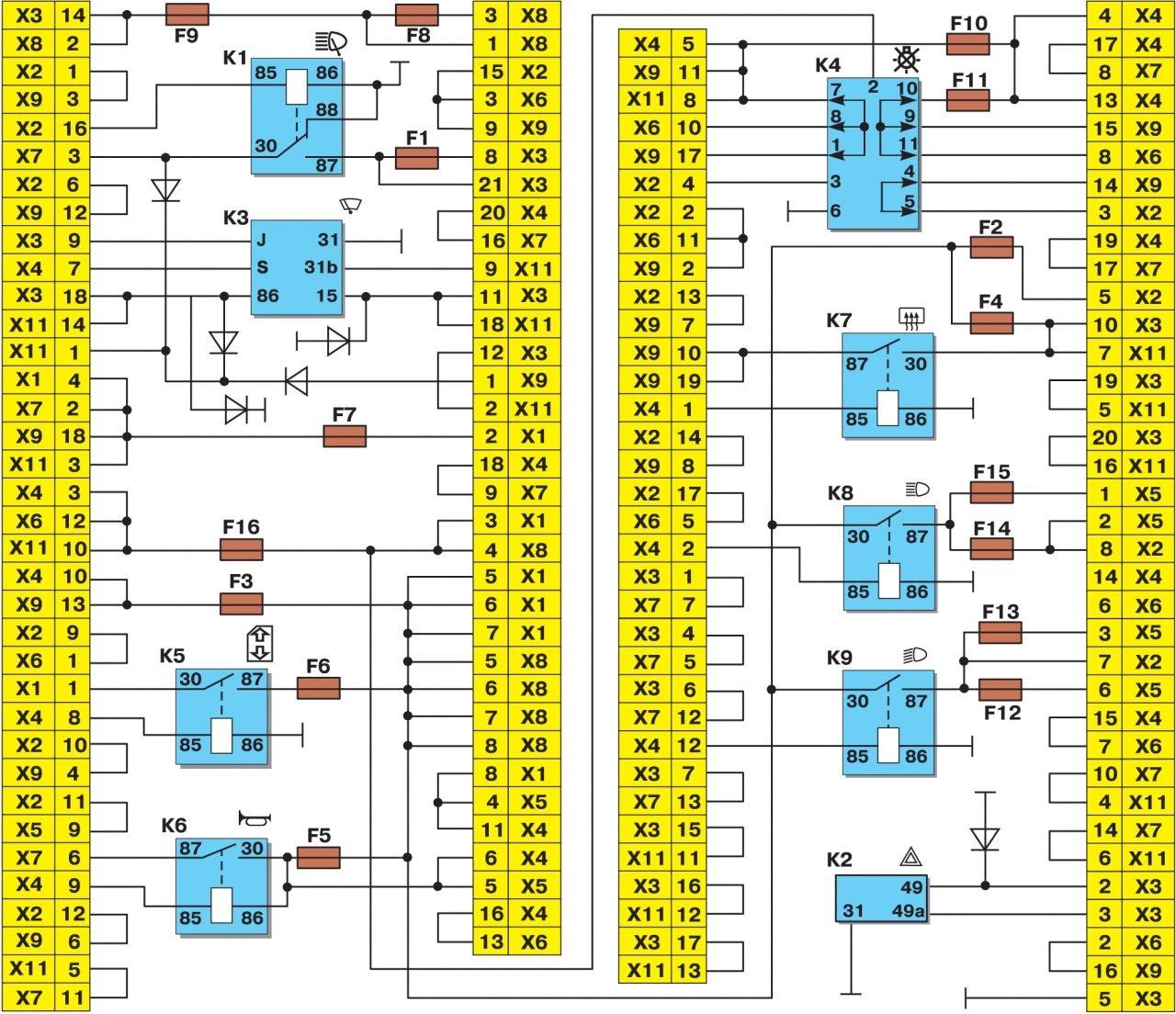 Схема блока предохранителей для ваз 2108