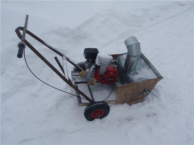 шнек к снегоуборщику своими руками
