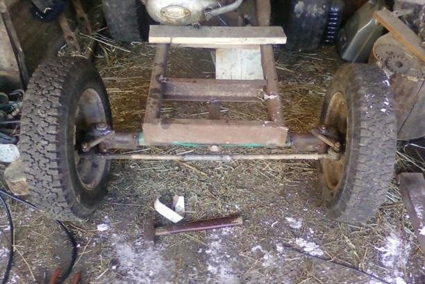 Передняя балка самодельных минитракторов - Передняя балка минитрактора - Фермер. Ру