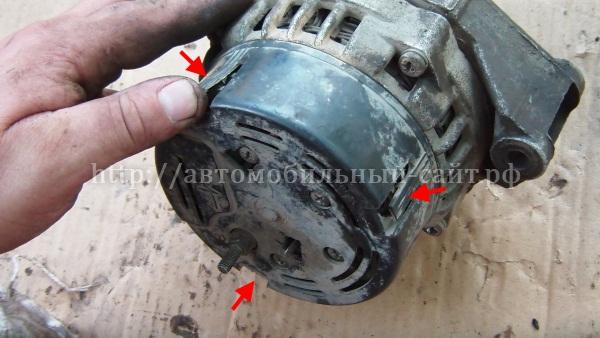 Ремонт генератора приора с кондиционером своими руками 62